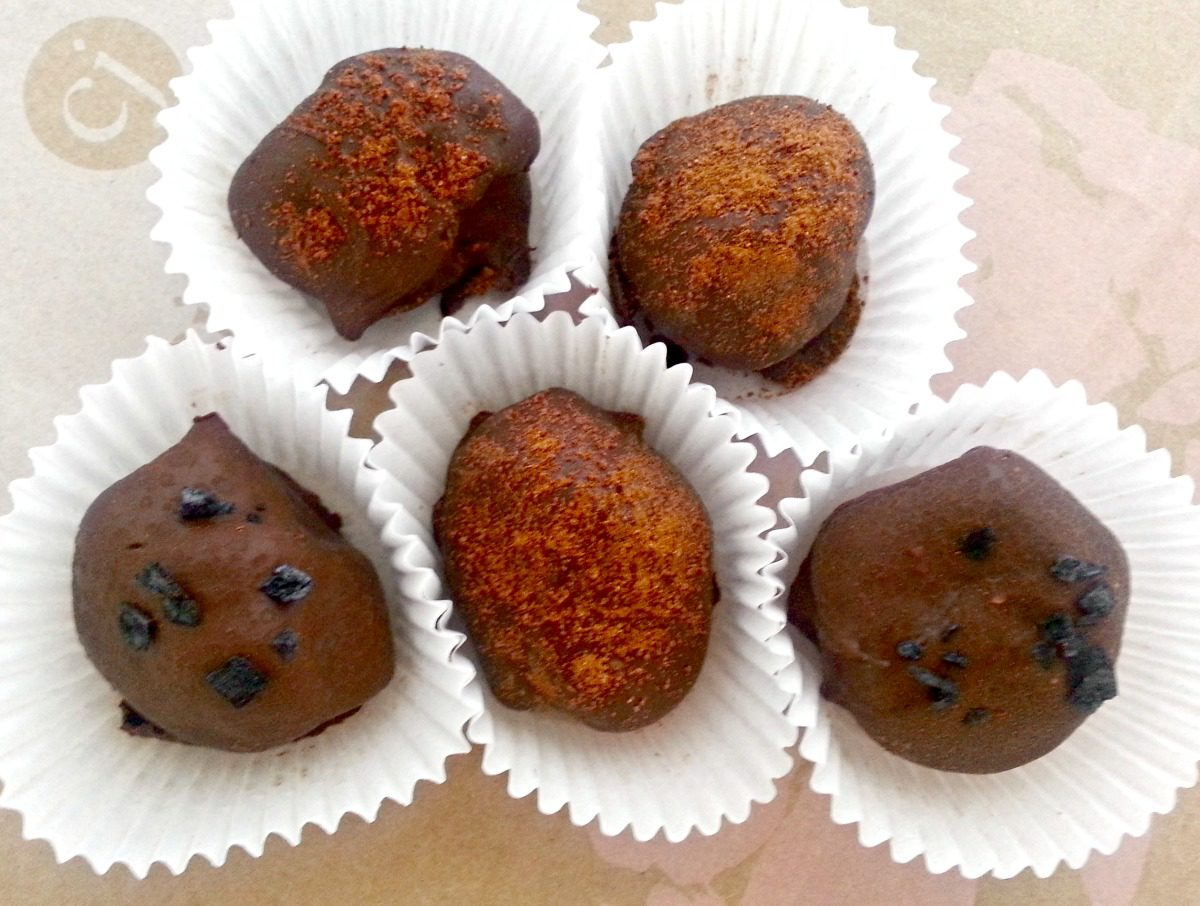 Mexican Chocolate and Peanut Butter Truffles