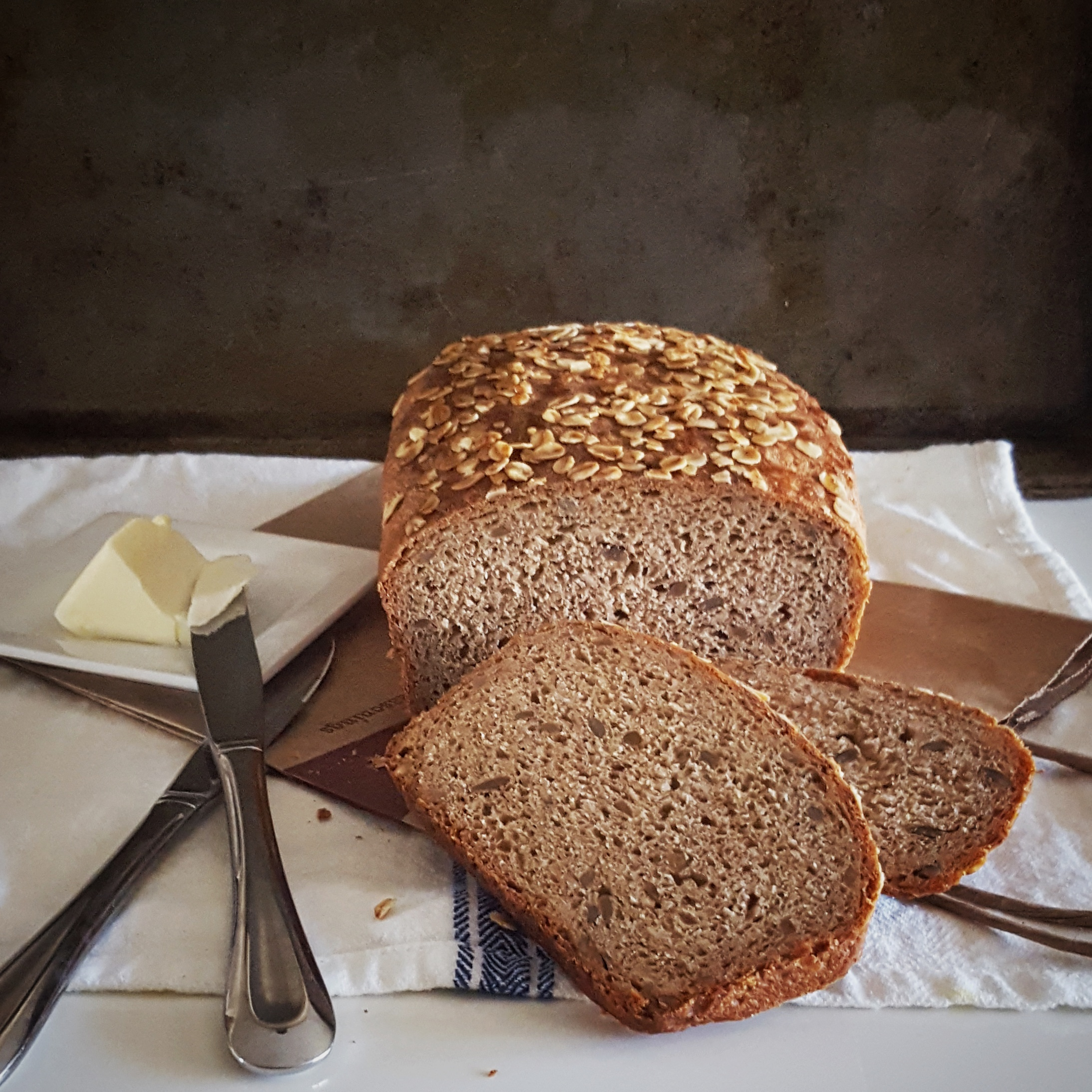 Oatmeal Honey Wheat Bread with Sunflower Seeds