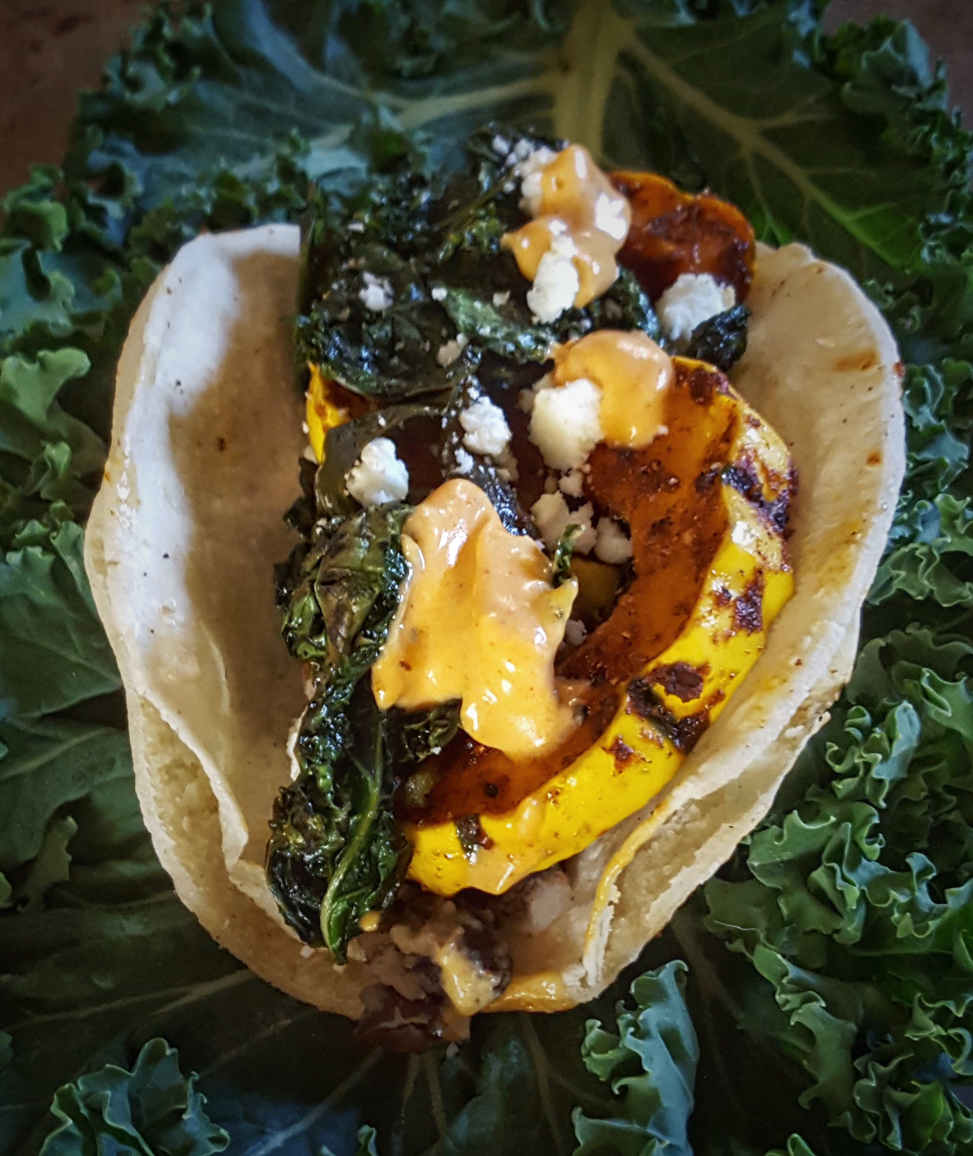Roasted Delicata Squash and Black Bean Tacos with Smoked Spanish Paprika and Chili Aioli | Simply Sophisticated Cooking